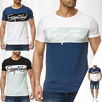 Men's T-Shirt Font Sublevel Short Sleeve Round Neck Summer Casual Sleeve Tee