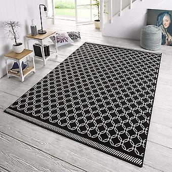 Designer velour carpet chain black cream