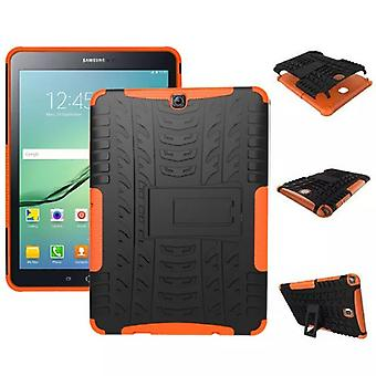Hybrid outdoor protective cover case Orange for Samsung Galaxy tab S2 9.7 T810 T815N bag