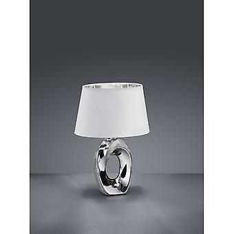 Trio belysning Taba Modern Silver keramisk bordslampa