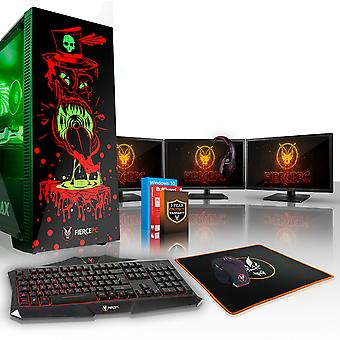 Felle GOBBLER Gaming PC, snelle Intel Core i7 8700 K 4.5 GHz, 2 TB HDD, 8 GB RAM, RTX 2080 8 GB
