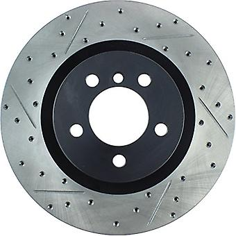 StopTech 127.22015R Sport Drilled/Slotted Brake Rotor (Front Right), 1 Pack