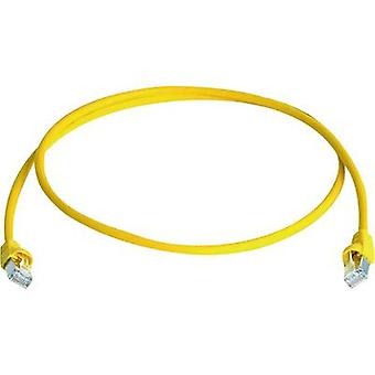 Telegärtner RJ45 MP8FS6GE20 Network cable, patch cable CAT 6A S/FTP 20.00 m Yellow Flame-retardant, Halogen-free