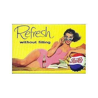 Pepsi Cola Refresh Without Filling Fridge Magnet