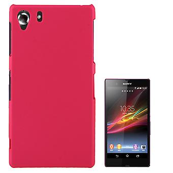 Pink cover plastic case for Sony Xperia Z1