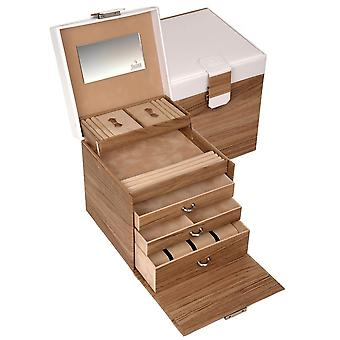 Sacher jewelry case jewelry box NORDIC STYLE white and wood look clock specialist