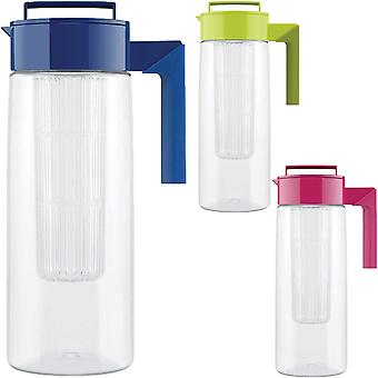 Takeya 2-Quart Tritan Plastic Airtight Leakproof Flavor Infusion Pitcher