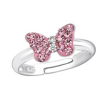 Бабочка - 925 стерлингового серебра кольцо - W23477x