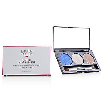 Baked Cream Glaze Trio Eyshadow Palette With Brush - # Sandy Lagoon - 3g/0.1oz