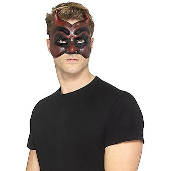 Smiffy's Masquerade Paholaisen naamio, Latex, punainen, miesten