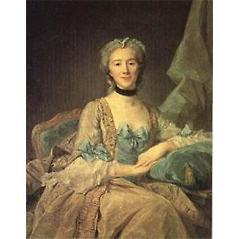 Madame de Sorquainville, PERRONNEAU Jean-Baptiste, 50x40cm