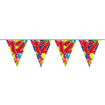 Wimpelkette 10m Zahl 12 Jahre Geburtstag Deko Party Girlande