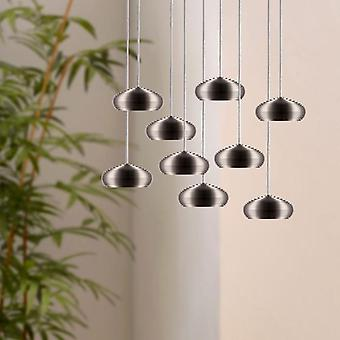 Modern Crystal LED Ceiling Light Pendant Lamp Entryway Hallway Dining Table Lamp