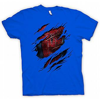 Mens T-shirt - neue Spiderman Kostüm - Superhero Riss Design