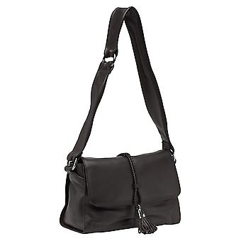 Burgmeister ladies shoulder bag T225-215 leather brown