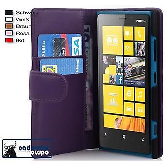 Cadorabo Funda para Nokia Lumia 920 Funda de la funda - Funda del teléfono en cuero sintético liso con la función del soporte y la caja de la tarjeta - funda de la funda de la caja de la caja del libro plegable del libro plegable del caso