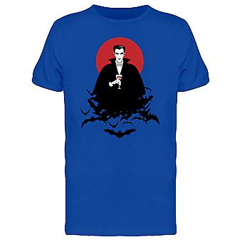 White Vampire With Wineglass Tee Men's -Image by Shutterstock