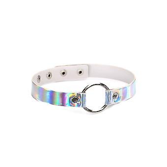 Attitude Clothing Silver Holographic O-Ring Choker