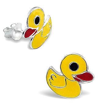 Rubber Duck Sterling Silver Stud Earrings
