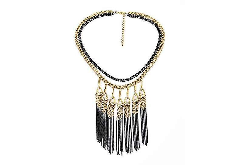 Layered Long Statement Tasselled Chain Necklace