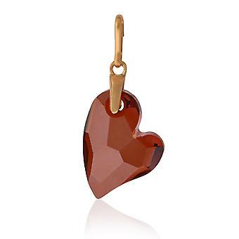 Alex And Ani Heart Charm - Red Magma Swarovski - 14KT Rose Gold Plated - CS18CHRMR