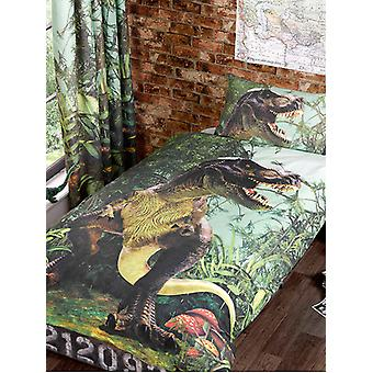 T-Rex Dinosaur Duvet Cover and Pillowcase Set