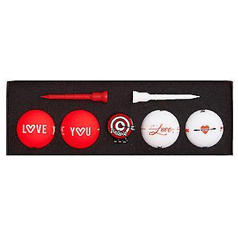 Volvik Vivid Love Pack Golf Balls (4 balls, ball marker, x2 tees)