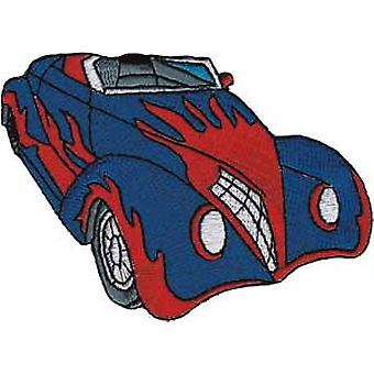 Patch - Automoblies - Blue Hot Rod with Flames Iron On Gifts New Licensed p-3756