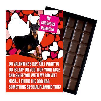 Doberman cadeau voor Valentines Day presenteert voor hondenliefhebbers boxed chocolade