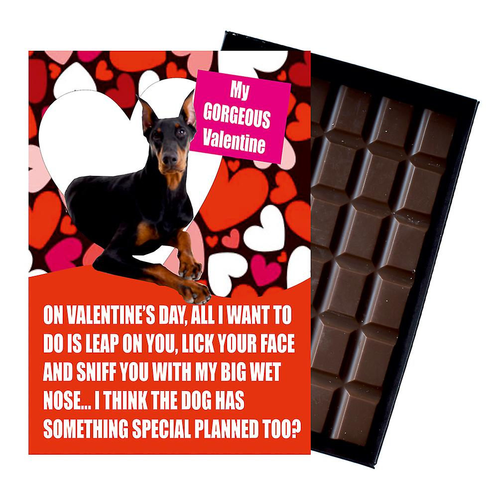 Doberman Gift for Valentines Day Presents For Dog Lovers Boxed Chocolate