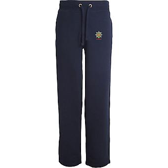 Coldstream Guards Veteran - Licensed British Army Embroidered Open Hem Sweatpants / Jogging Bottoms