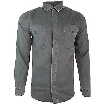 Edwin skjortor ocheller skjorta LS Sky Double BLK