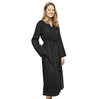 Cyberjammies 1343 Women's Nora Rose Violet Black Check Cotton Long Robe