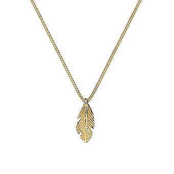 Elli PREMIUM - Women's necklace with feather pendant - silver 925 - 45 cm - 0106132415_45