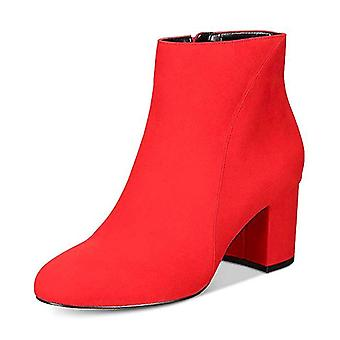 INC International Concepts Womens Floriann Fabric Almond Toe Ankle Fashion Boots