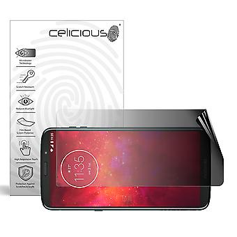 Celicious Privacy 2-Way Landscape Anti-Spy Filter Screen Protector Film Compatible with Motorola Moto Z3