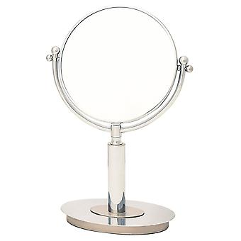 Danielle 18.5cm Oval Base Vanity Mirrior True Image with 5x Magnifying side