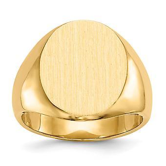 14k žlté zlato brúsené leštené masívne späť ryteľné pánske signet prsteň veľkosť 10 šperky darčeky pre mužov