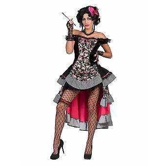 Saloongirl Damenkostüm Can Can Tänzerin Damen Saloon Kostüm Westernbraut
