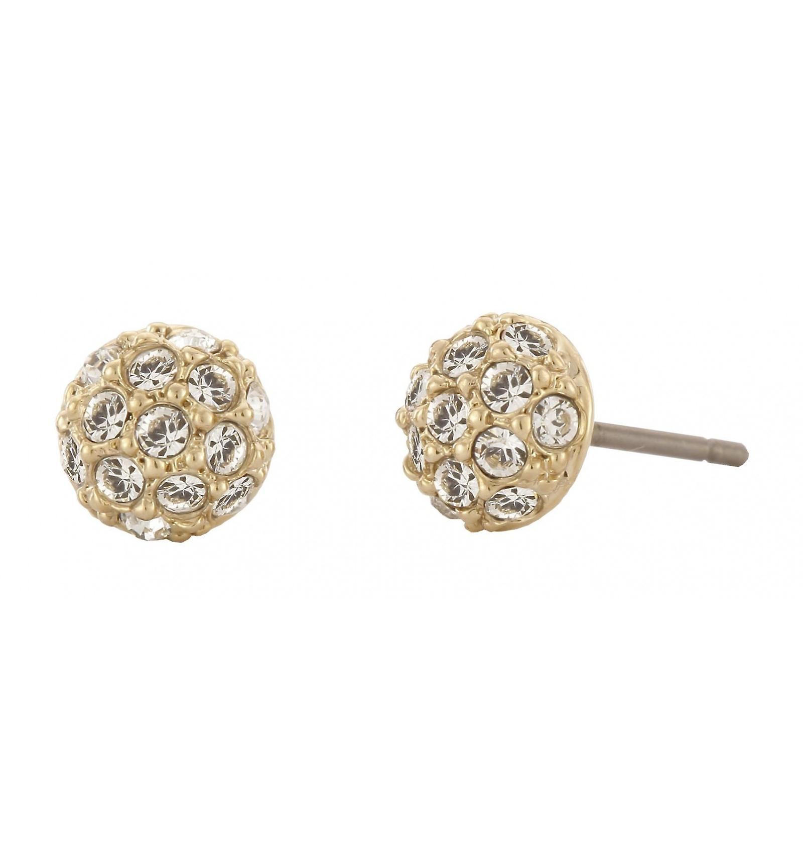 Traveller pierced earring - 22ct gold plated - Swarovski Crystals - 156141