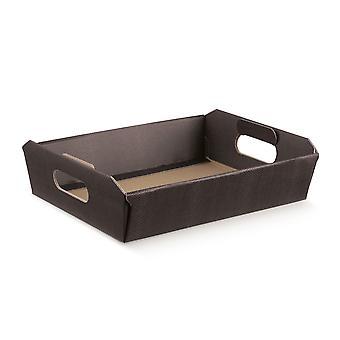 31cm Rich Coffee Brown Cardboard Gift Hamper Tray