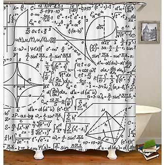 Black And White Equations Shower Curtain