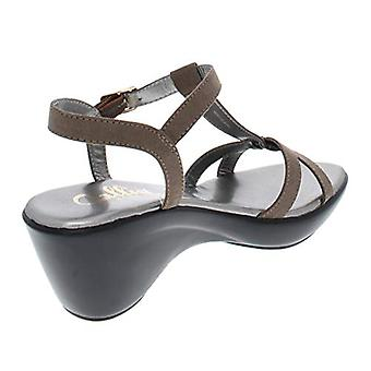 Callisto of California Womens Kali Faux Suede T-Strap Wedge Sandals