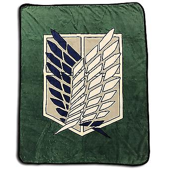 Blanket - Attack On Titan - Scout Regiment Throw New Licensed ge57077