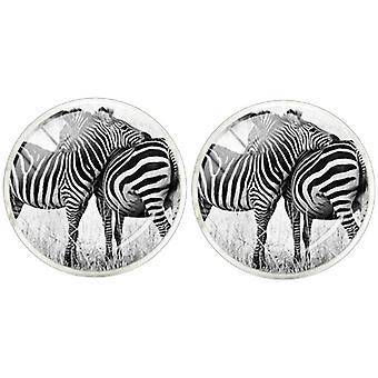Bassin and Brown Zebra Cufflinks - Black/White