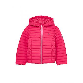 Joules Junior Kinnaird Ragazze Imbottite Cappotto Packable - Rosa