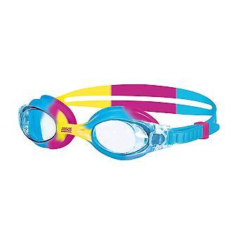 Zoggs svømning Goggles lille Bondi i blå/gul/pink/Clear-0-6yrs