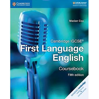 Cambridge IGCSE R First Language English Coursebook by Marian Cox