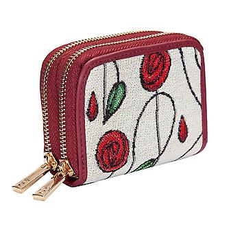 Mackintosh-simple rose double-zip RFID argent portefeuille par signare tapisserie/dzip-rmsp