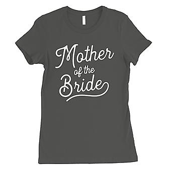 Mother Of Bride Womens Cool Grey Bridal Shower Shirt For Mom-in-Law